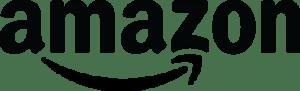 amazon logo in black and white